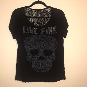 VS PINK skull tee💀